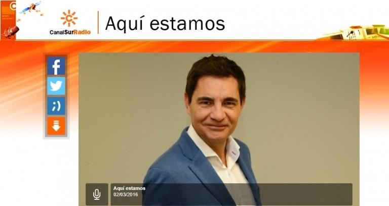 """Entrevista en """"Aquí estamos"""" de Canal Sur Radio"""