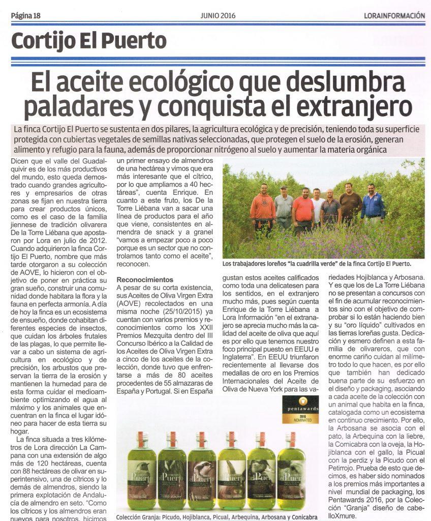 El aceite ecológico que deslumbra paladares y conquista el extranjero destacado en Lora Información