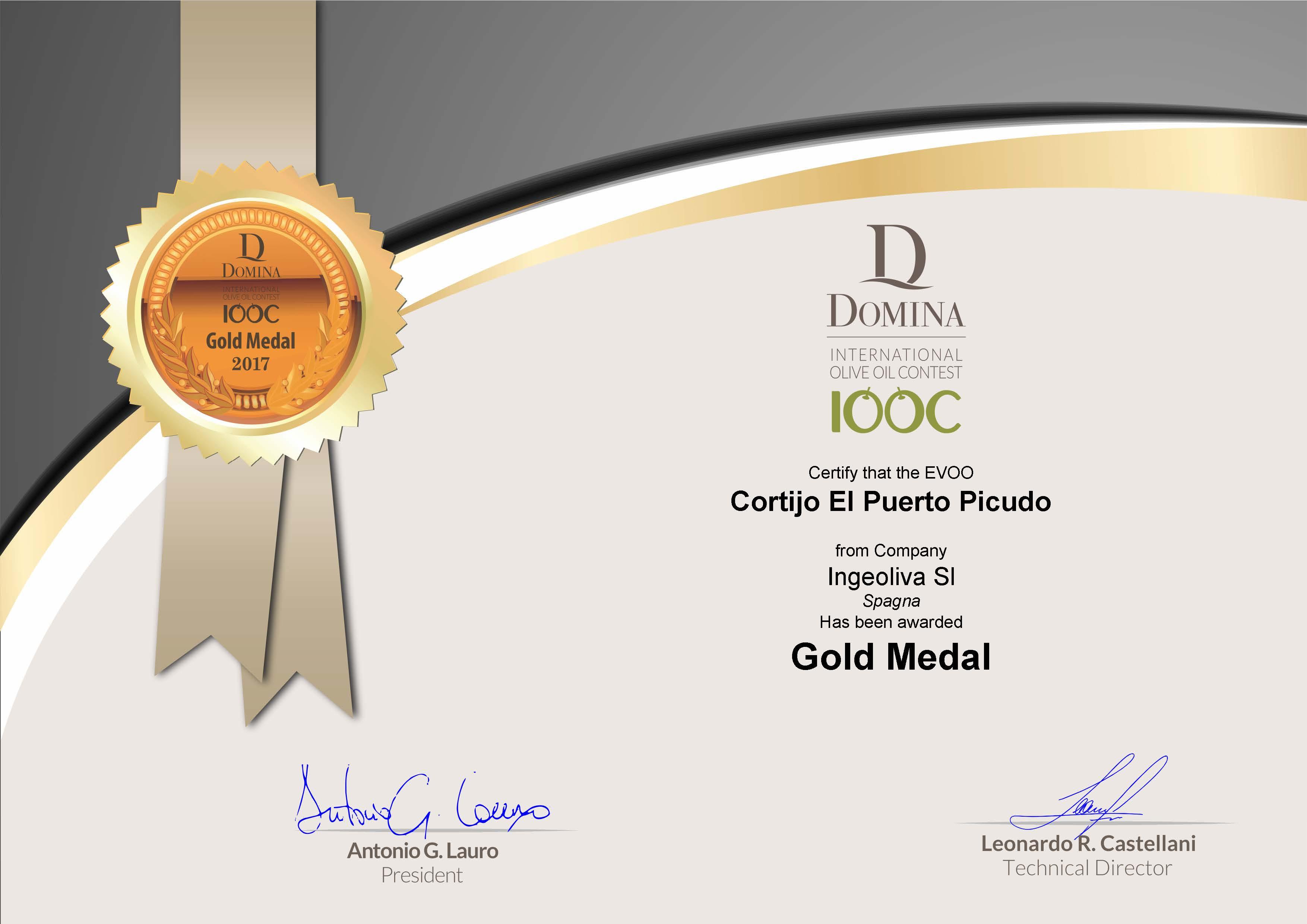 Cortijo el Puerto Picudo DOMINA DIOOC Gold Medal