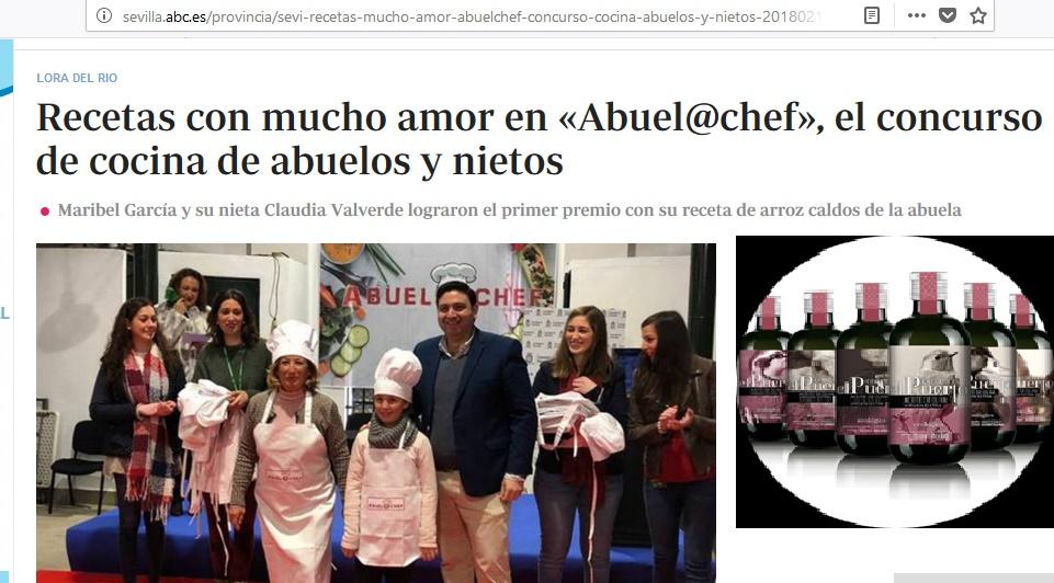 ABC: Cortijo el Puerto, ingrediente bio de la Abuel@chef, el concurso gastronómico loreño de abuelas y nietos
