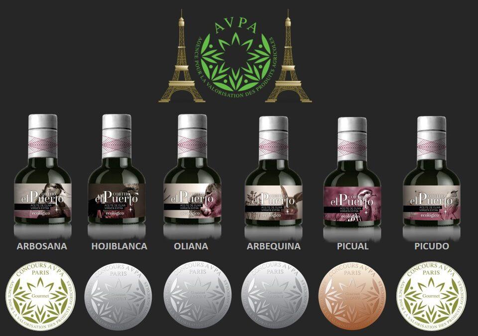 """6 Premios a nuestros AOVE en el Concurso Internacional """"Aceites del Mundo""""de París"""