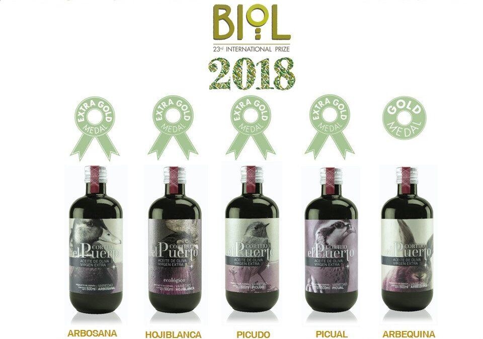 5 Premios para nuestros AOVE Ecológicos en el Concurso Internacional BIOL de Italia