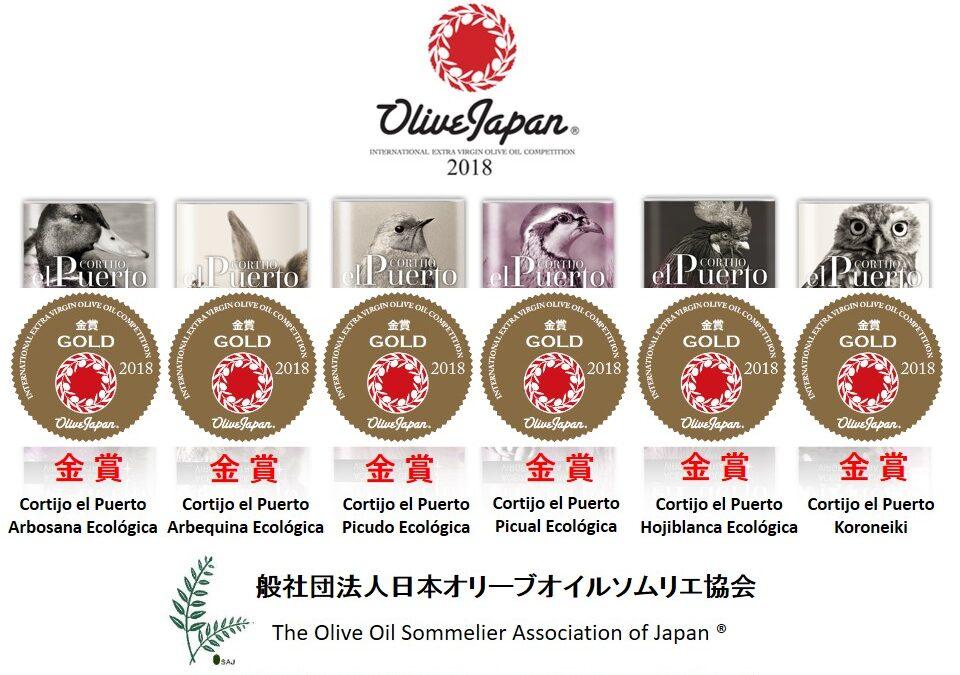 6 medallas de Oro en Olive Japan