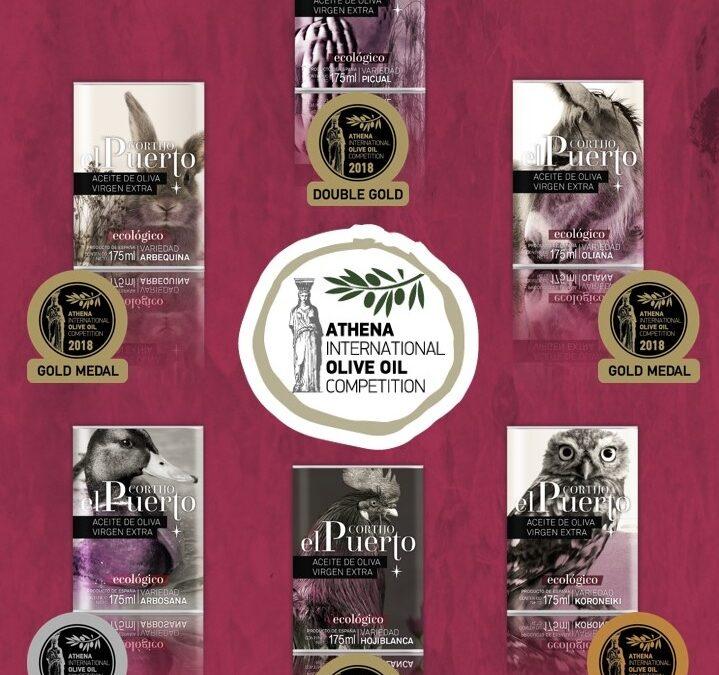 6 galardones para Cortijo el Puerto AOVE Ecológico en la ATHIOOC 2018