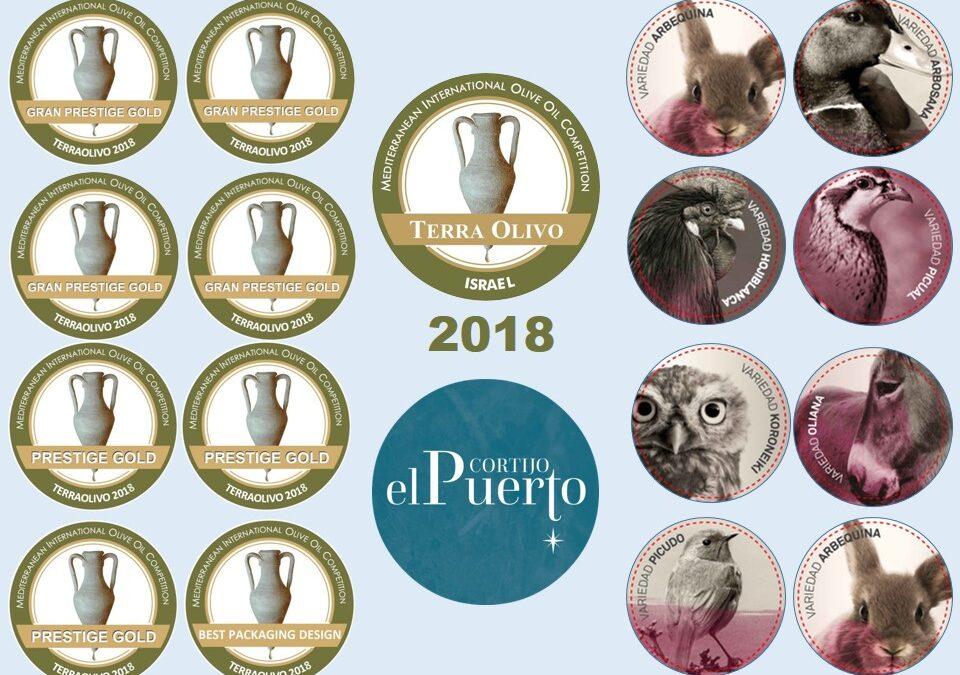 7 Oros y premio al diseño en TERRAOLIVO 2018