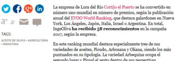 El correo web: La sevillana Cortijo el Puerto, la empresa de aceite de oliva más premiada del mundo