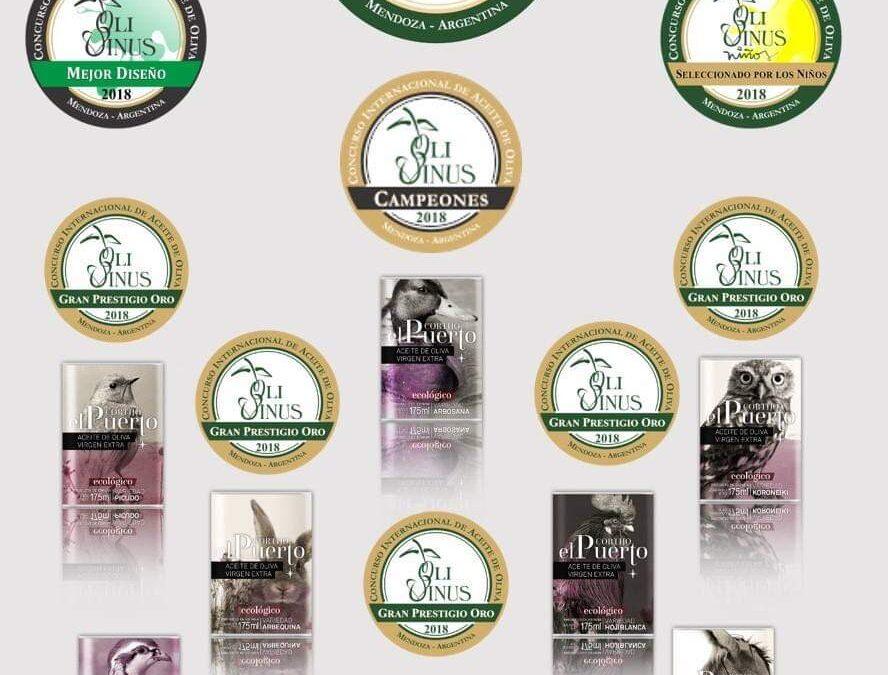 10 premios para los AOVE Ecológicos Cortijo el Puerto en Olivinus (Argentina)