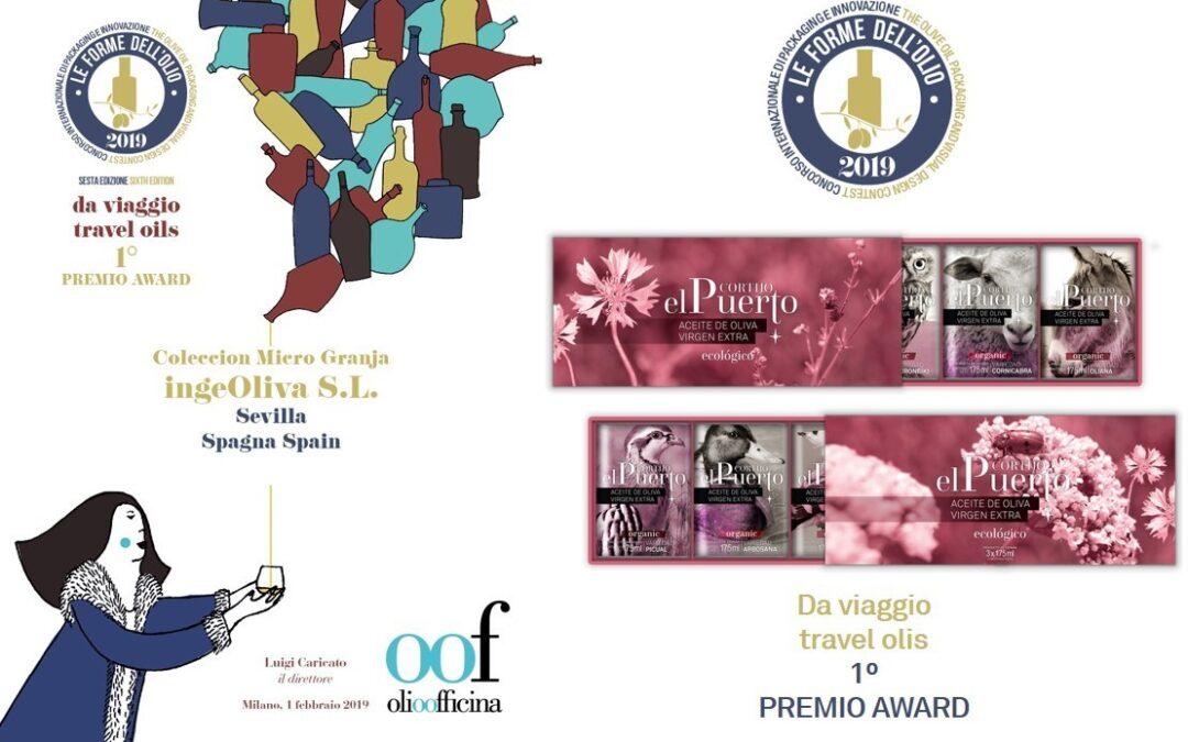 """La Colección """"Granja"""" AOVE Ecológico Cortijo el Puerto premio al diseño en Italia."""