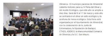 Olimerca: La Producción ecológica, eje de las IV Jornadas del Olivar de Almendral