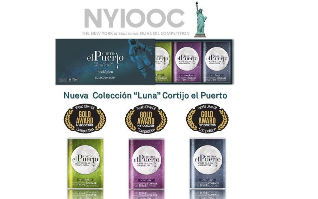 Tres Oros para la «Luna» AOVE Ecológico Cortijo el Puerto en NYIOOC 2019