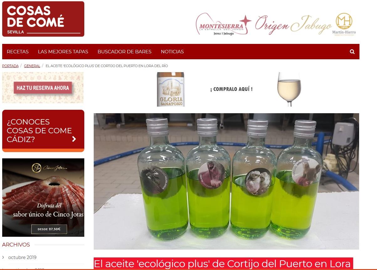 Cosas de comé sevilla_AOVE ecológico plus de Cortijo el Puerto