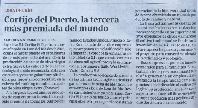 ABC_ IngeOliva Cortijo el Puerto Ecológica y Top EVOOWR tercera más laureada _01_11_19
