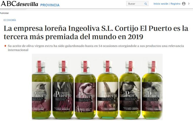abc_Cortijo el Puerto empresa ecológica loreña tercera más premiada en EVOOWR