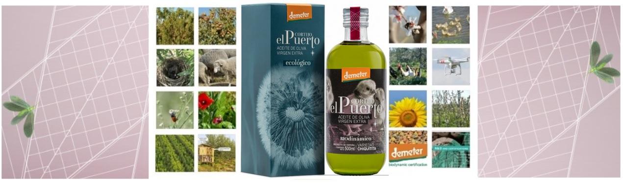 Chiquitita banner Aceite de oliva virgen extra ecológico y biodinámico Cortijo el Puerto
