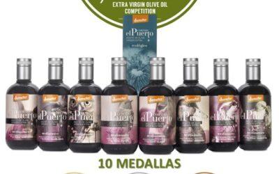 Aceite biodinámico Cortijo el Puerto: 10 medallas en Los Ángeles (LAIOOC 2020)