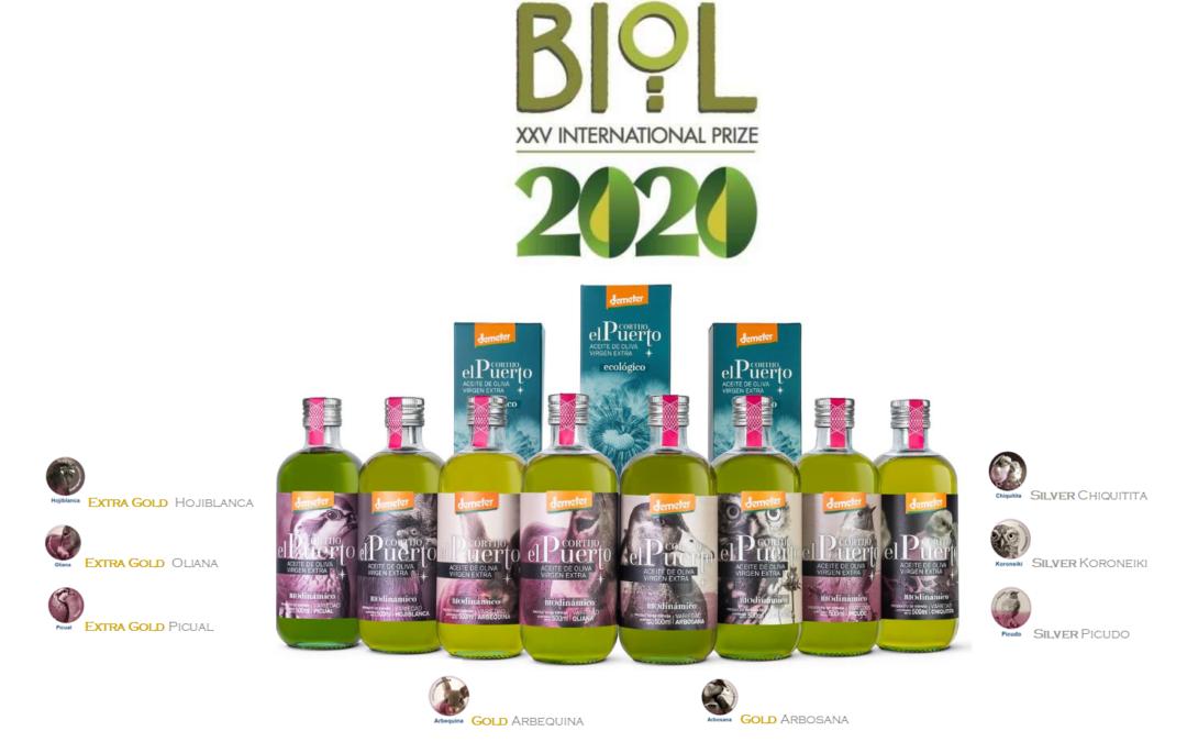 Organic & Biodynamic EVOO Cortijo el Puerto: 8 awards at BIOL Italy
