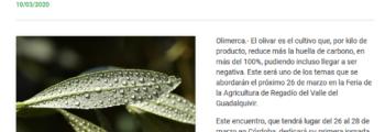 Olimerca: A debate la huella de carbono en el olivar