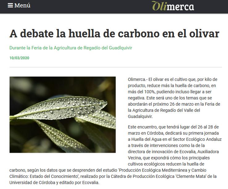 Olimerca _10_marzo_2020_Huella carbono olivo _Cortijo el Puerto