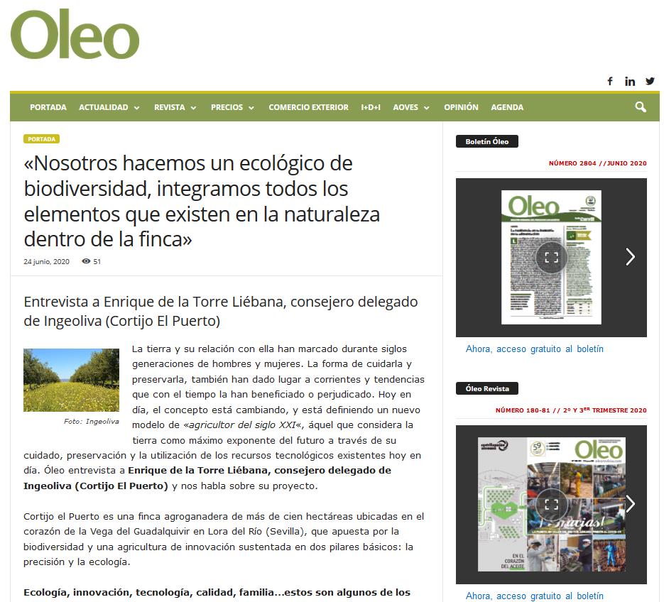 Oleo 180-181_ Entrevista a Enrique de la Torre cortijo el Puerto_junio 2020