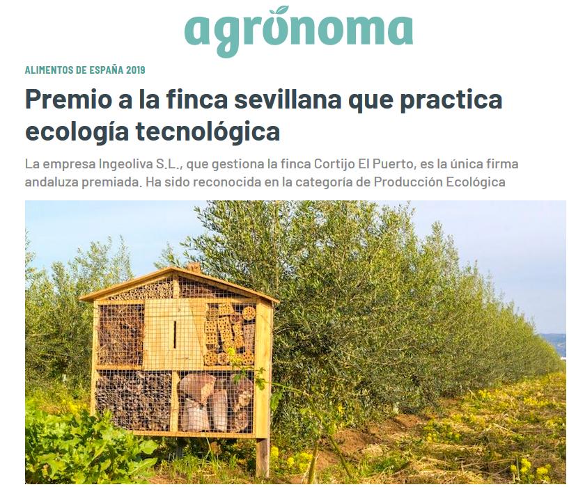ABC_ Agrónoma_IngeOliva Cortijo el Puerto Premio alimentos de españa Producción ecológica_27_07_2020
