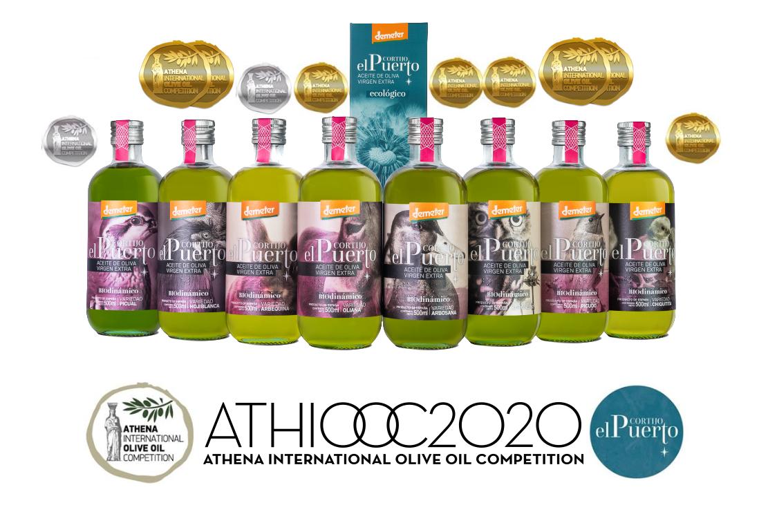Organic biodynamic Cortijo el Puerto extra virgin olive oil ATHIOOC 2020_head