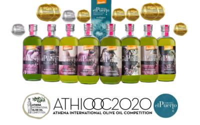 8 Medallas para nuestros Aceites de Oliva Ecológicos & Biodinámicos en ATHENA IOOC 2020 (Grecia)