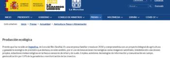 lamoncloa.gob.es: Concedidos los Premios Alimentos de España 2019_IngeOliva Cortijo el Puerto premio a Producción Ecológica