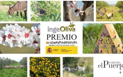 Premio ALIMENTOS DE ESPAÑA Producción Ecológica a IngeOliva Cortijo el Puerto