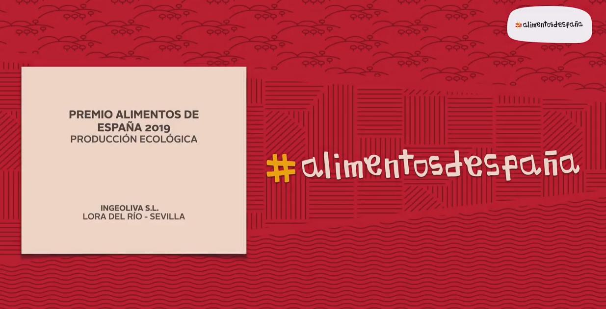 Premio alimentos de españa 202_IngeOliva_Cortijo el Puerto_ producción ecológica_logo