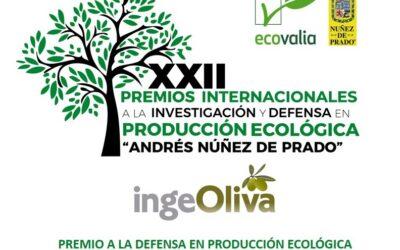 """IngeOliva-Cortijo el Puerto Premio Investigación y Defensa en Producción Ecológica """"Andrés Núñez de Prado"""" categoría empresa"""