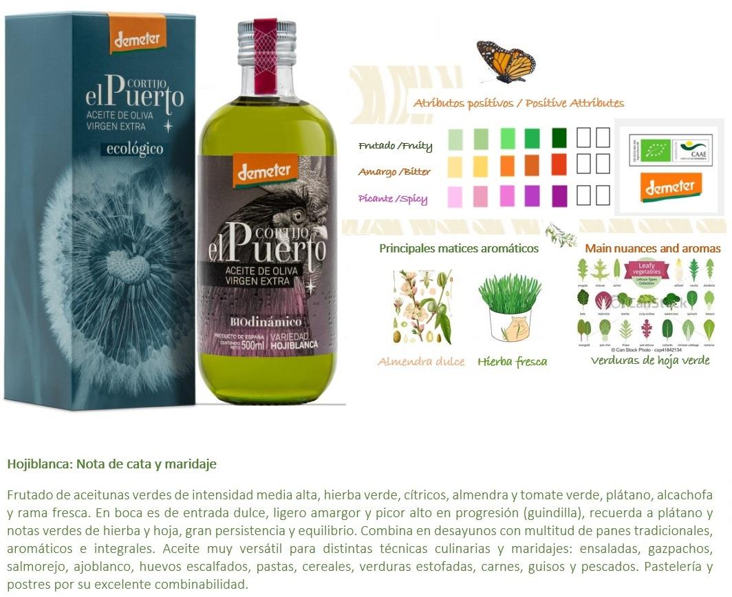 Aceite Oliva Ecológico Biodinámico Hojiblanca AOVE_Cortijo el Puerto