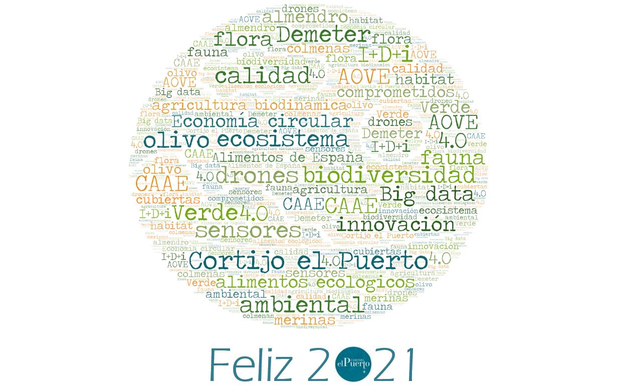Cortijo el Puerto Ecologico biodinámico desea feliz 2021
